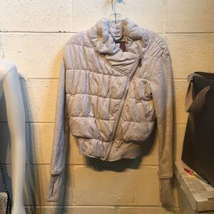 lululemon athletica Jackets & Coats - Lululemon grey zip up puffy jacket  sz 4 59388